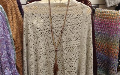 Light woven poncho