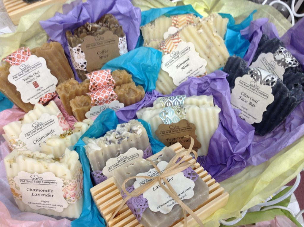Locally made Soaps